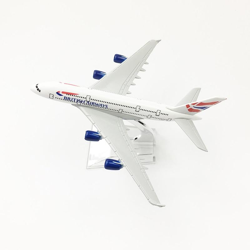 JASON TUTU 16cm BRITISH AIRWAYS Airbus A380 Plane Model Airplane Model Aircraft Model Diecast Metal Airplanes 1:400 Plane Toy