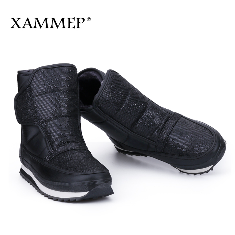 XAMMEP Plus Warmful Women Winter Snow Shoes Mid Calf Boots