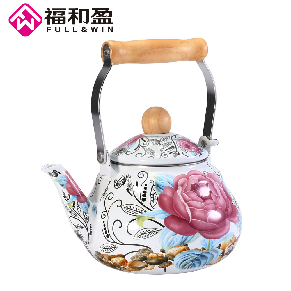 1 5L Enamel Kettle Dinerware Teapot Kitchen Tools Kettle Samovar Electric Kettle Tea Pots with Flower
