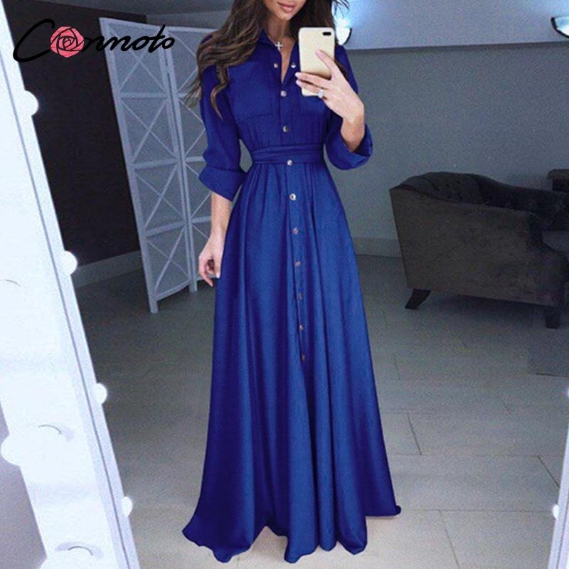 c75edd0129cf Pulsante Casual Donne Camicia Vestito Rosa Fiocco Della Basamento blu Delle  Nero Elegante Solido Cravatta Collo ...