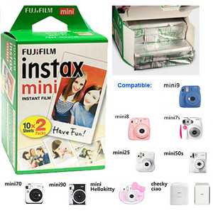 Image 2 - 40PCS Genuine White Edge Fuji Fujifilm Instax Mini 8 Film Camera Accessories For Mini 9 Mini 8 7S Instant Cameras Set