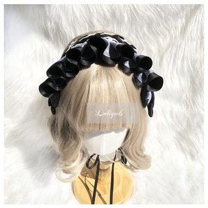 Image 5 - Zoete Handgemaakte Lolita Motorkap Hoofdtooi Lace Hoofddeksel