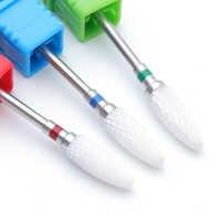 1pcs Ceramic Nail Files Rotate Drill Bits Cuticle Cutter 3/32'' Milling Pedicure Nail Art Polish Manicure Machine Tool BEH0615TB