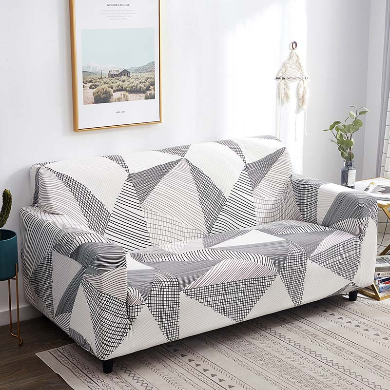 Elastic 1 2 3 4 Seater Cover Print Decor Sofa Stretch Protector Couch Slipcover