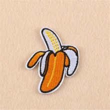 2 Pcs/lot Banana Fruit Patch Iron On Sewing On Patch Embroidered Applique Clothes Sticker DIY Apparel Craft Sewing Accessories