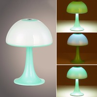New Arrive 3 Colors Kids Mushroom Lamp Romantic Colorful Sensor LED Mushroom Night Light 3 Style