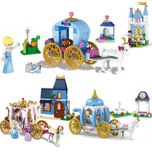 Friends Blocks 41053 Princess Cinderella Pumpkin Carriage Bricks Toy For Girls gift Compatible with LegoINGly Duploe 41146