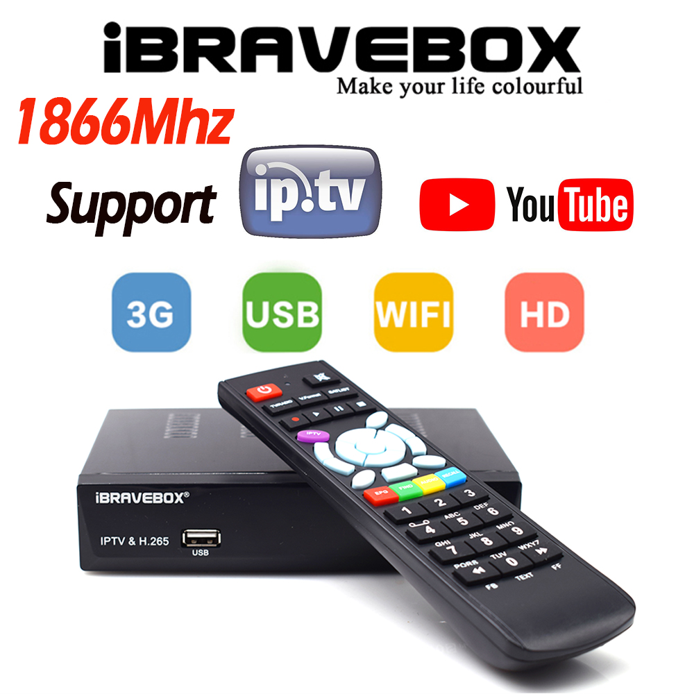 IBRAVEBOX F10S PLUS DVB-S2 TwinTuner HD Satellite Tv Receiver H.265 Support CCcam Cline NEWCAMD IKS IPTV USB Wifi Media Player