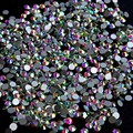 Cristal de 1440 Diamantes de Imitación para Uñas Diseño de Uñas Diseño de Uñas Decoraciones Nuevo Llega SS3 Piedras AB Strass Nail Art ZJ1086