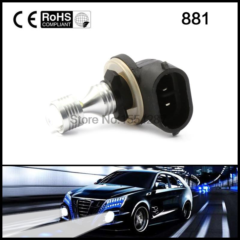 2x New H27 881 LED Car Front Fog Lights 12V 881 LED Bulbs Driving Daytime Running Light 30W