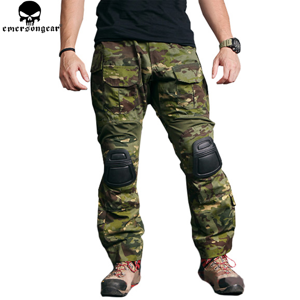 EMERSONGEAR Combat Pants Military Hunting Tactical Pants with Knee Pads Multicam Tropic Airsoft Tactical Paintball Trousers emerson g2 tactical pants with knee pads airsoft combat training military trousers bdu army airsoft paintball pants em8525