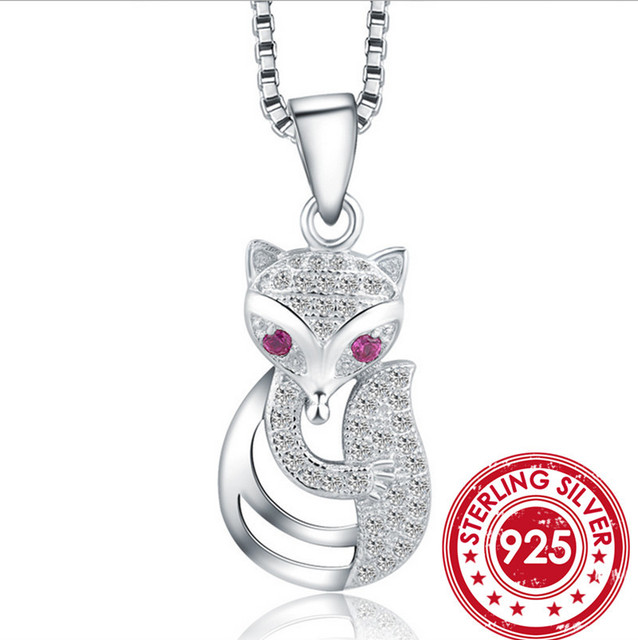 SNH 100% New Fashion Fox Design Necklace Women Pendant Necklace For Women Fine Jewelry