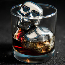 Stainless Steel Skull Ice Cube Cooler Wine For Bar Cooling Whiskey Stone Home Party Supplies Drop shipping