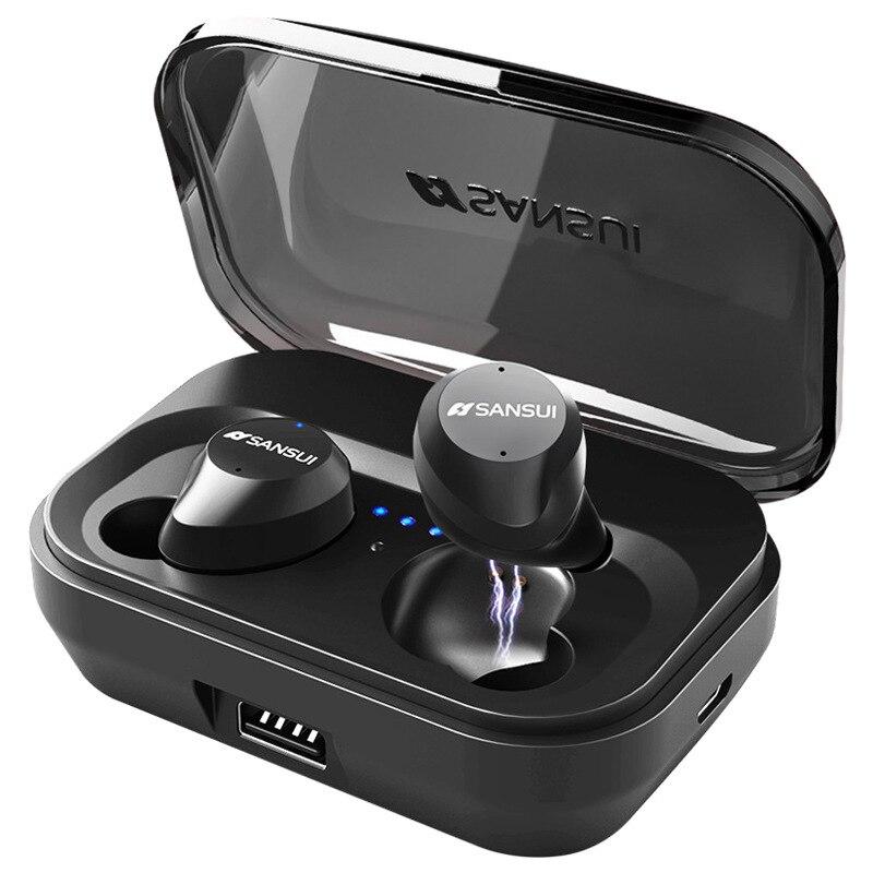 TWS Smart Touch Bluetooth 5.0 HI-FI Riduzione Del Rumore IPX7 Impermeabile Auricolare BLuetooth 3D Suono Stereo In Ear con Accumulatori e caricabatterie di riserva