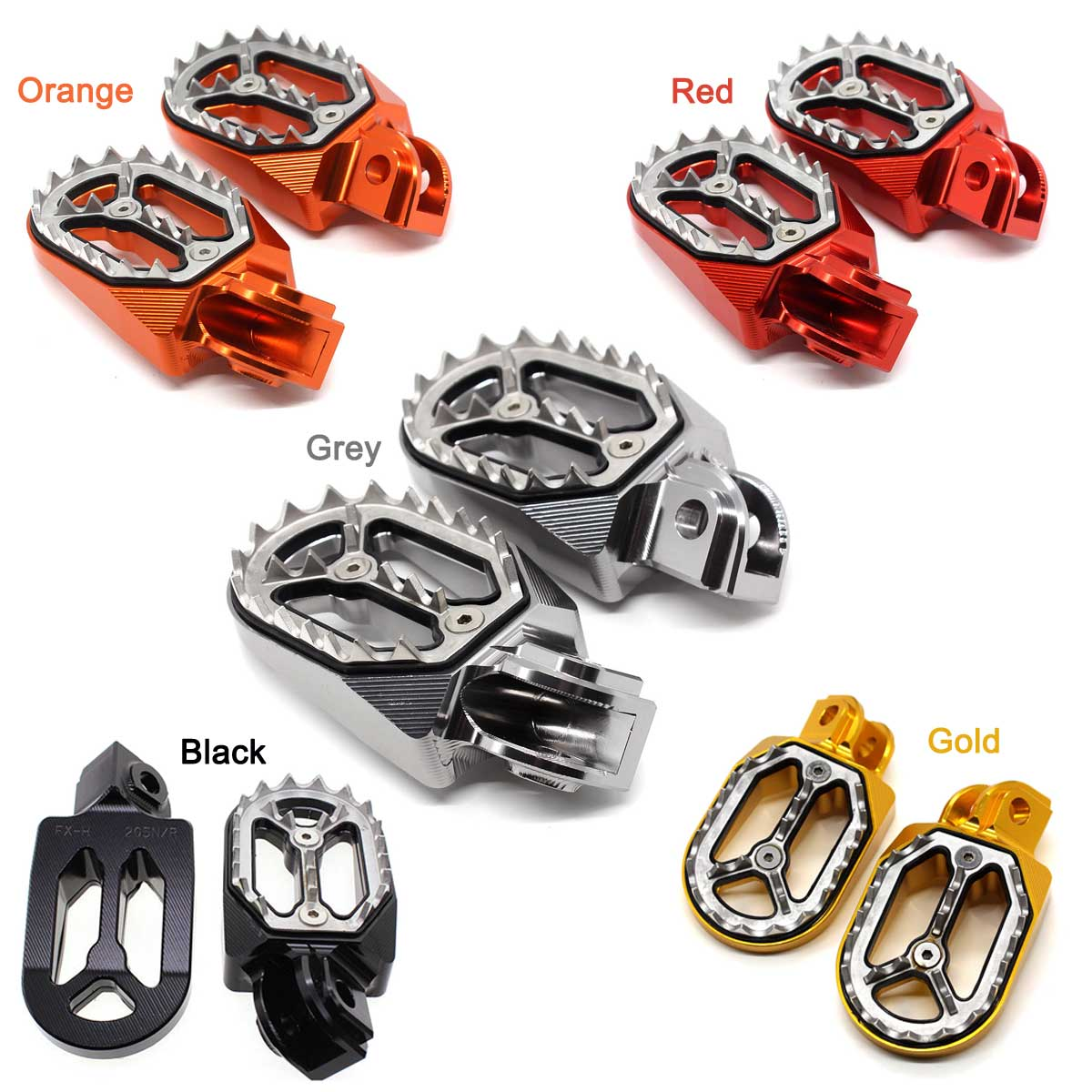 For KTM SX SX-F XC EXC 125//250//350//450//525//530 CNC Foot Pegs Footrest Motorcross