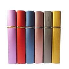 10x12ML Mini Portable rotary spray bottle anodized aluminum perfume bottles glass perfume bottles makeup perfume bottling tube