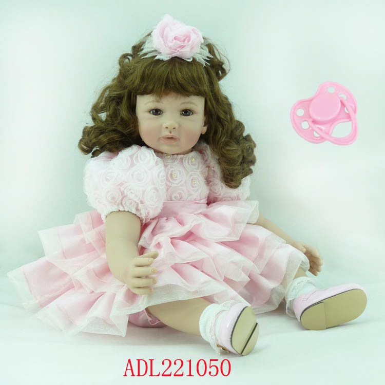 60cm Silicone Vinyl Reborn Baby Doll toys lifelike soft doll reborn babies lovely pink princess toys for childs kids new style60cm Silicone Vinyl Reborn Baby Doll toys lifelike soft doll reborn babies lovely pink princess toys for childs kids new style