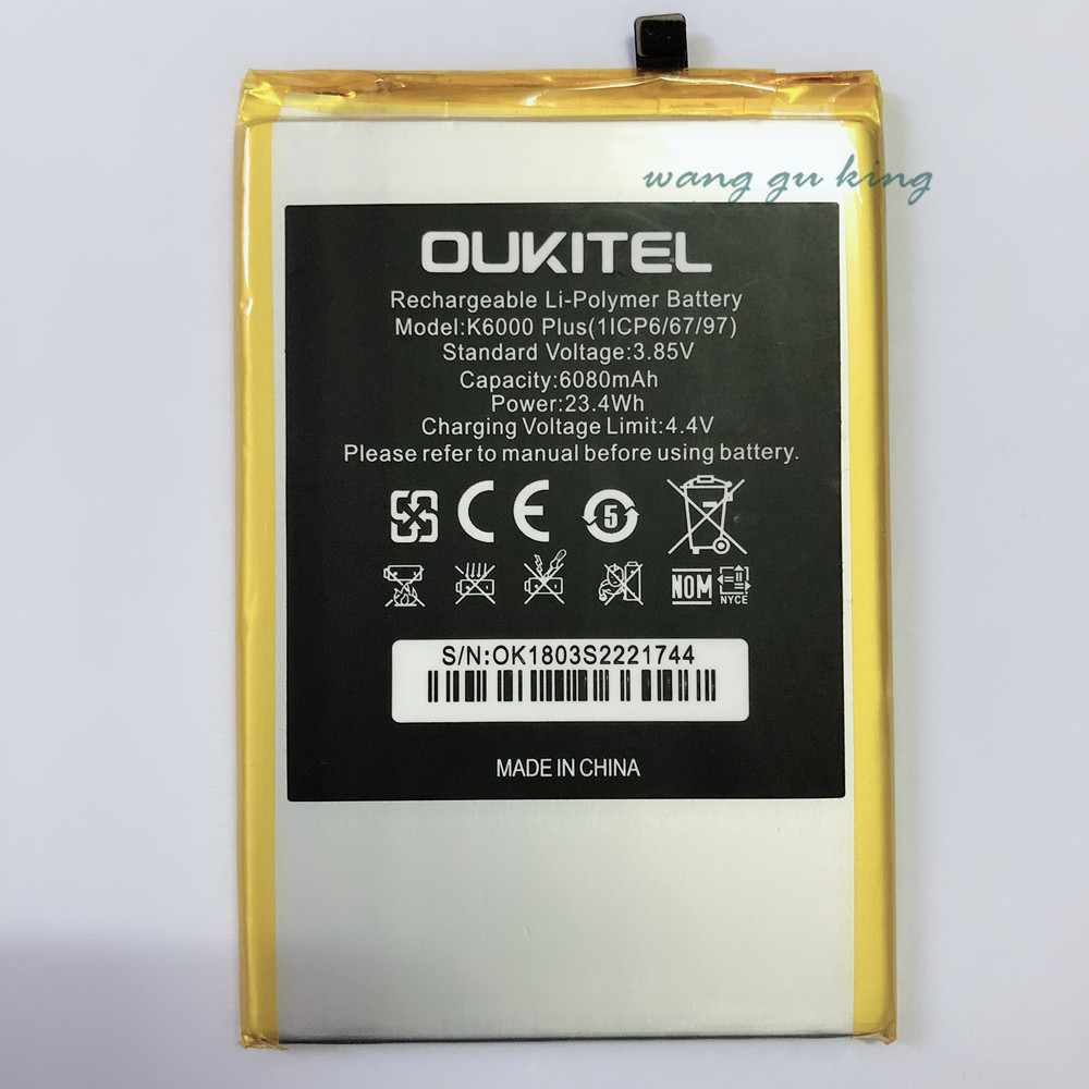 100% new Replacement Battery For OUKITEL K6000 plus K6000plus Mobile phone Rechargeable Li-polymer Batteries 6080mAh In stock100% new Replacement Battery For OUKITEL K6000 plus K6000plus Mobile phone Rechargeable Li-polymer Batteries 6080mAh In stock