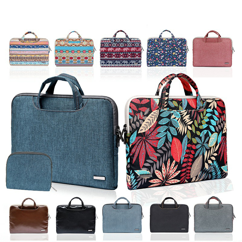 11 13 14 15.6 Inch handbag for MacBook <font><b>Lenovo</b></font> Dell HP Asus Women Men Computer Bag 15.6 Notebook Sleeve Cover <font><b>Case</b></font> with Bank Bag image