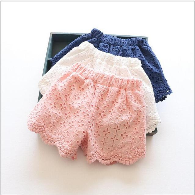 96acc852f6b Princess Lace Baby girls shorts Summer Spring children shorts kids shorts  for girls clothes toddler girl clothing