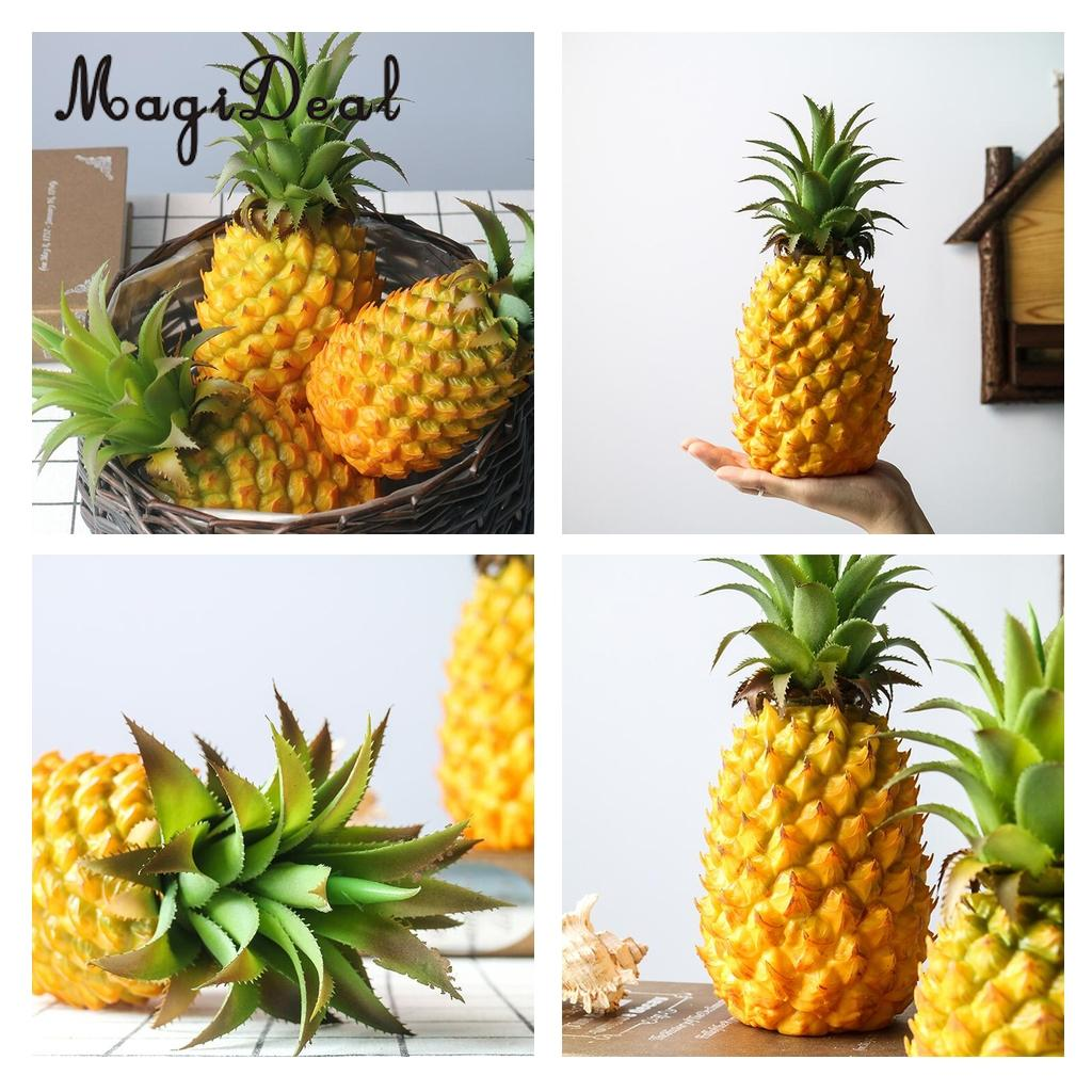 Magideal 23cm Lifelike Artificial Pineapple Plastic Decorative