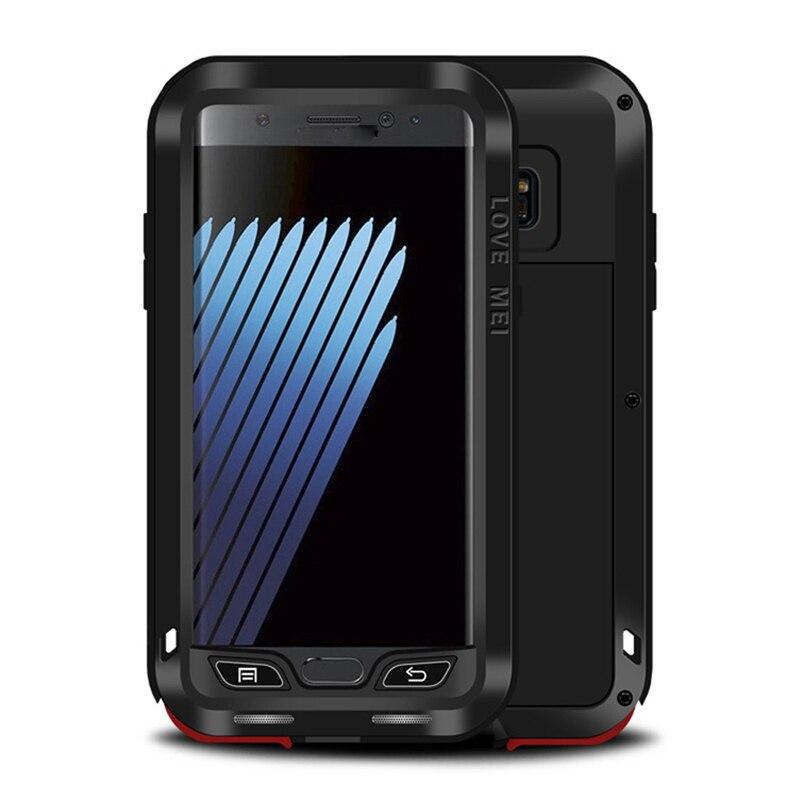 LOVE MEI armure étui pour samsung Galaxy Note FE puissant antichoc robuste couverture en métal pour Fan édition extérieur défenseur Shell