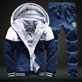 Thick Hoodies Hot Selling Full Real Chandal Autumn\ Winter Comfort Men's Sportwear Tracksuit Pants Hoodies Set Plus Size Z05