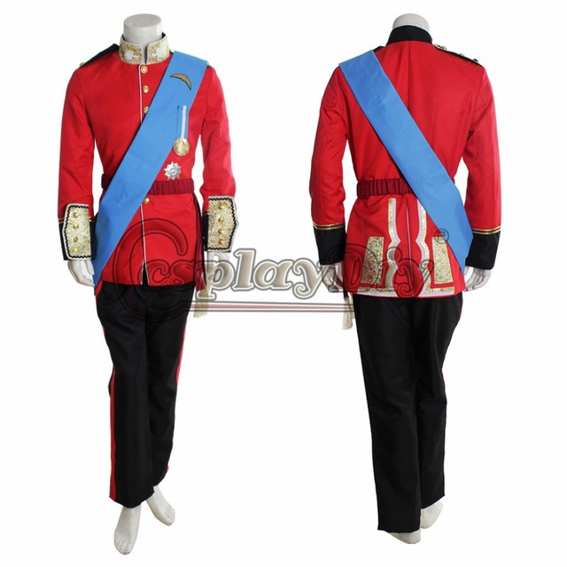 The Royal Prince Costume William Costume Suit For Adult Men Halloween Costume D0221