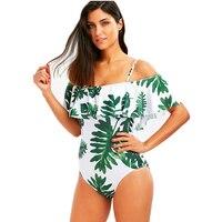 One Piece Swimsuit Monokini Women Off Shoulder Sexy Plus Size Swimwear Bathing Suit Summer Female Bather