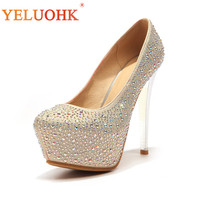 33 43 Wedding Shoes Heel Women 13 CM Extreme High Heels Big Size Shoes Women Heels