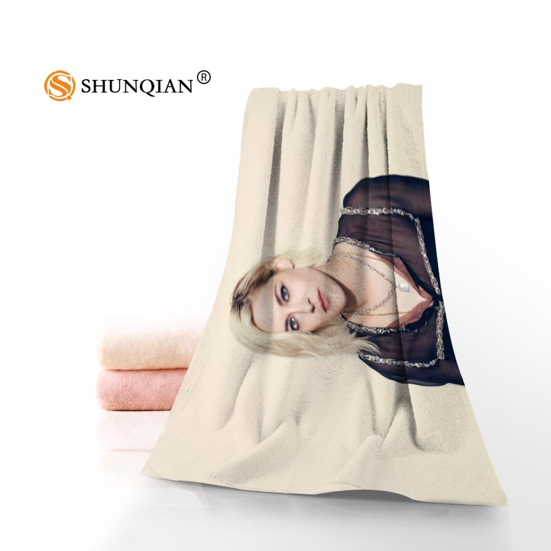 Custom Kristen Stewart Towels Microfiber Fabric Popular Face Towel/Bath Towel Size 35x75cm, 70x140cm Print your picture ...