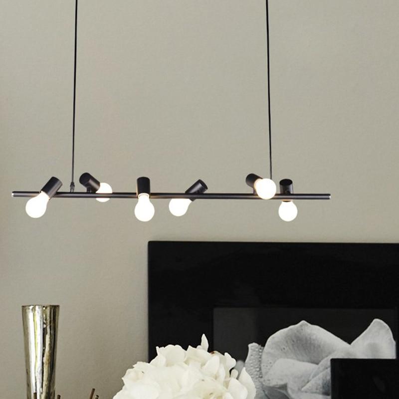 Nordic wrought iron birds pendant light 6 heads E27 90V 365V Black White Home decoration lighting