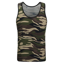 2018 New Classic Basic Green Tank Tops Women Knit Girls Camis Casual Vest Sleeveless T Shirt Female Camouflage