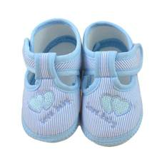 2017 Hot Fashion Spring Autumn Baby Shoes Sweet Striped Antiskid Toddlers Shoes Cute First Walkers Baby Boys Levert BTTF(China)