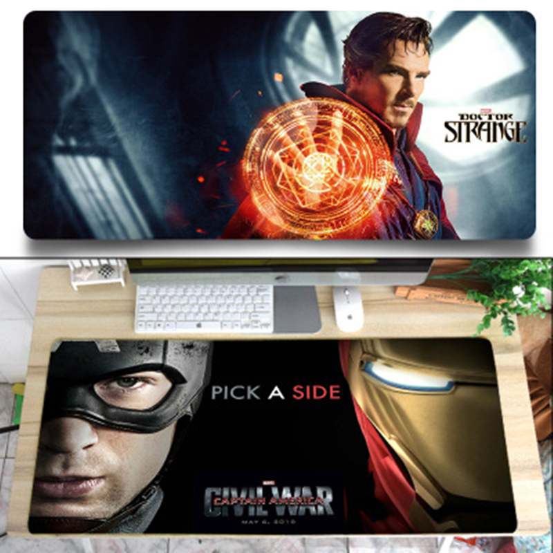 Image 5 - Super Marvel mouse pad Locking Edge Gaming Mouse Pad Hero Iron Man Quake Anti slip Natural Rubber Mat anime mouse pad  pc gamer-in Mouse Pads from Computer & Office