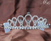 Small Sweet Tiaras With Hair Combs Clear Rhinestones Crystal Crowns Pageant Prom Aniversary Party Headbands For