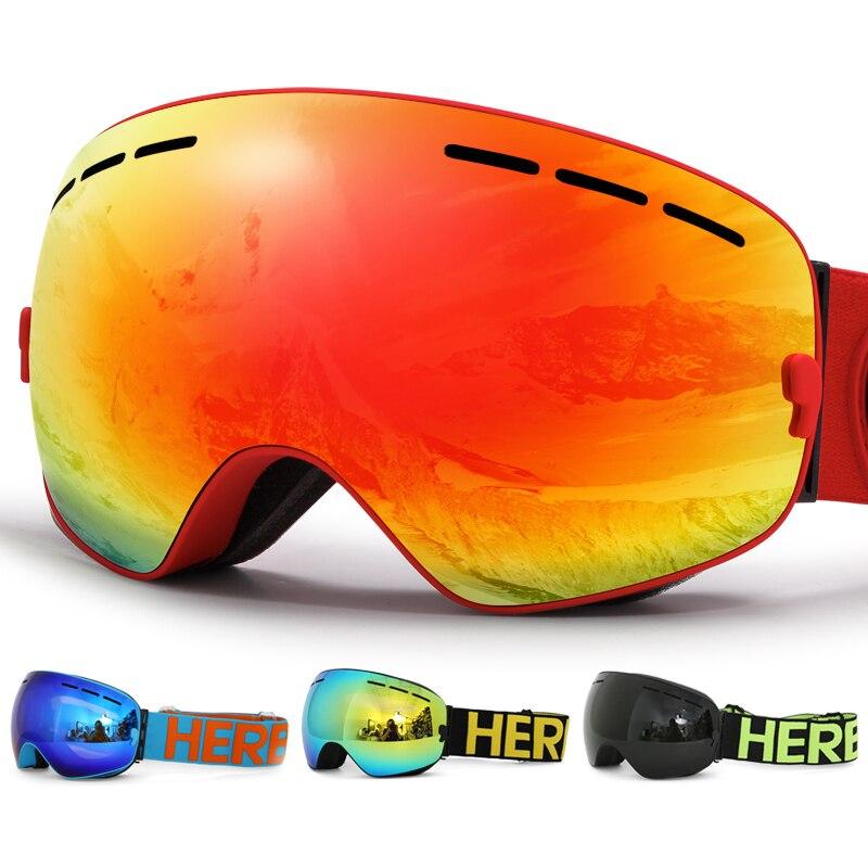 Neue HERBA marke ski brille Doppel Objektiv UV400 Anti-fog Adult Snowboard Skifahren Gläser Frauen Männer Schnee Brillen