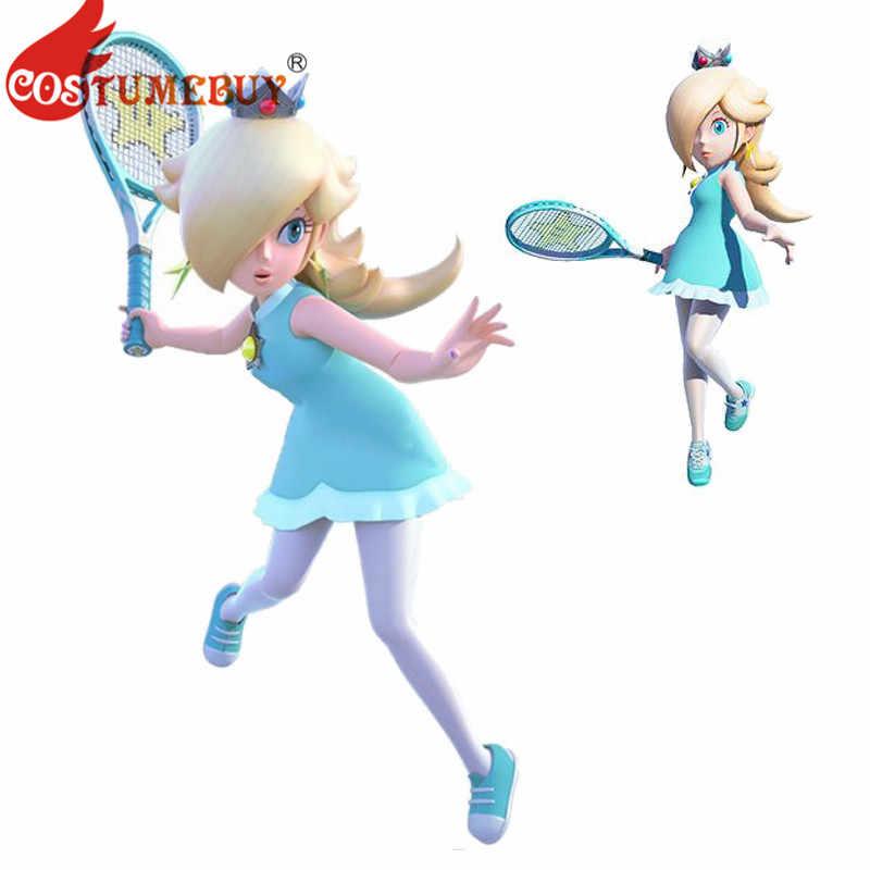 Costumebuy Super Mario Tennis Princess Rosalina Cosplay