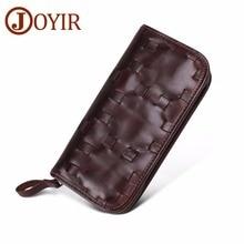 JOYIR Design Unisex Women Clutch Wallets Genuine Leather Male Womens Long Wallet Zipper Purse Coin Money Phone Bag RFID