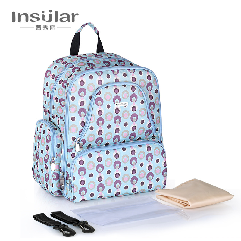 Mummy Waterproof Nappy Changing Bag Print Dot Color Baby Stroller Travel Bags Diaper Backpack Tote for Infant Things Milk Bottle 5 in 1 diaper bag set baby changing maternity infant stuff storage tote nappy bags mummy storage bags fashion baby stroller bags