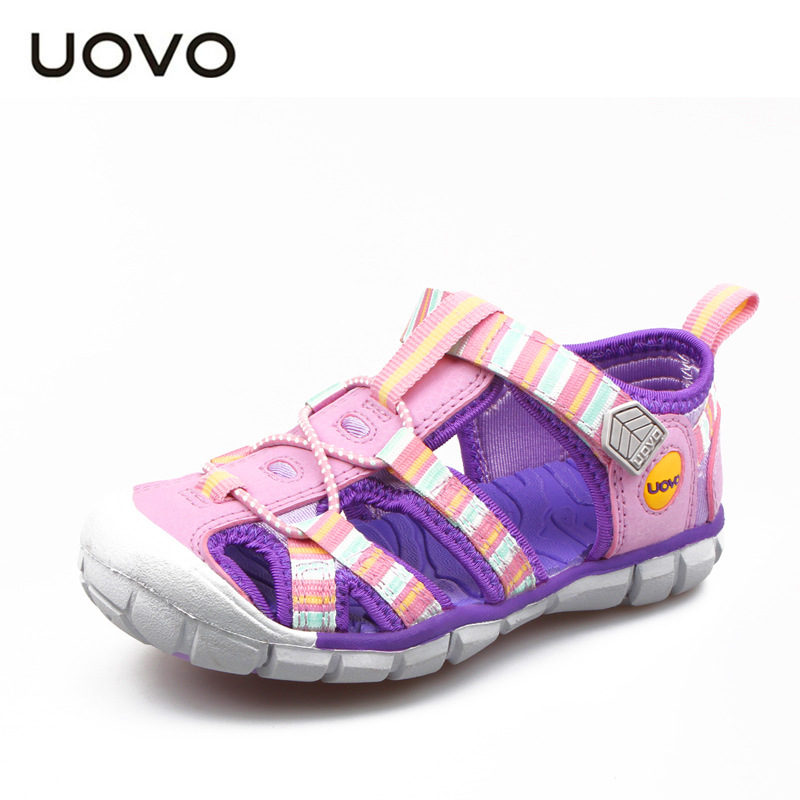 UOVO Brand Kids Sandals Girls Shoes Size 2018 Kids Summer Shoes Baby Beach Sandals Children Sandals For Canvas Sport Shoes joyyou brand 2017 children espadrilles kids shoes girls canvas shoes sweet pattern shoes baby flats casual shoes for girl592512