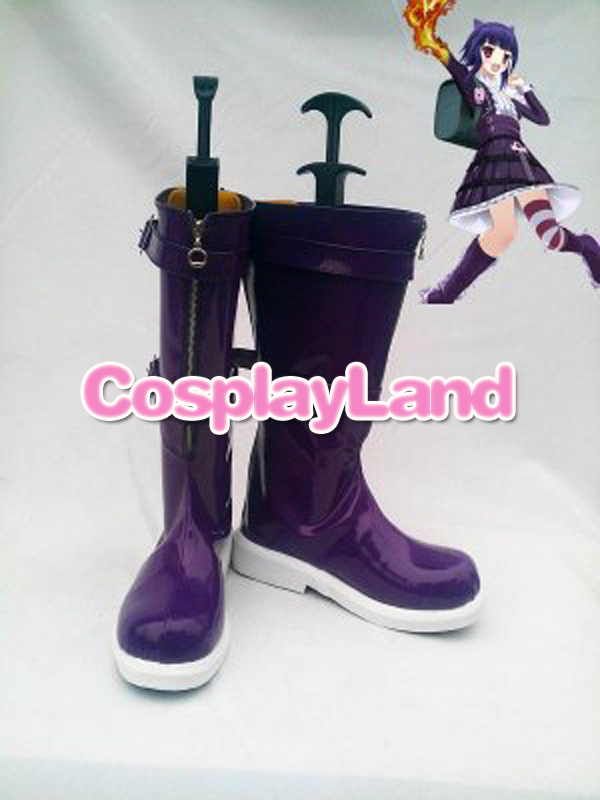 Customize Boots LOL Purple Cosplay Boots Cosplay Costume Anime Party Shoes