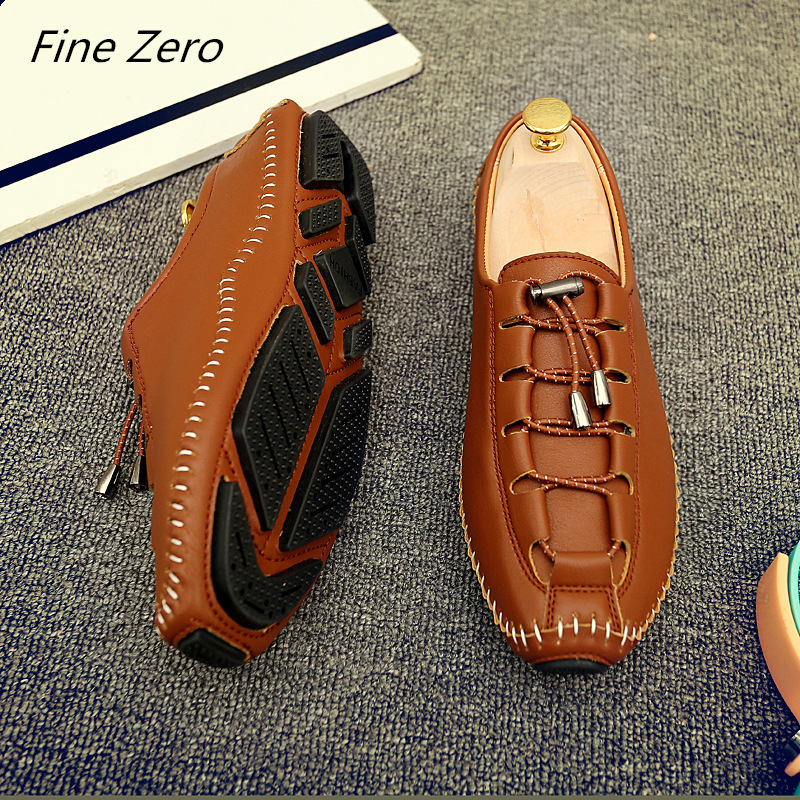 Konstruktiv Neue Atmungsaktiv Marke Müßiggänger Männer Leder Casual Schuhe Sommer Hohe Qualität Erwachsene Slip On Mokassins Männer Turnschuhe Männlichen Schuhe Schuhe