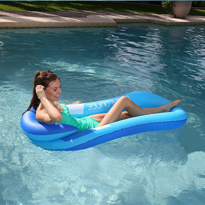 Summer Swimming Water Floating Bed Water Hammock Single People Inflatable Backrest Recliner Floating Sleeping Bed Chair Cushion Mother & Kids