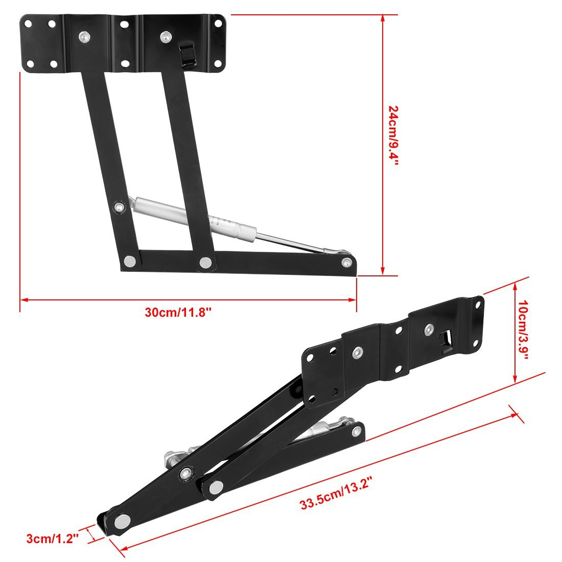 Hot Sale 1pair 14cm Lifting Height Lift Up Coffee Table Desk Furniture Gas Hydraulic Hinge in Furniture Frames from Furniture