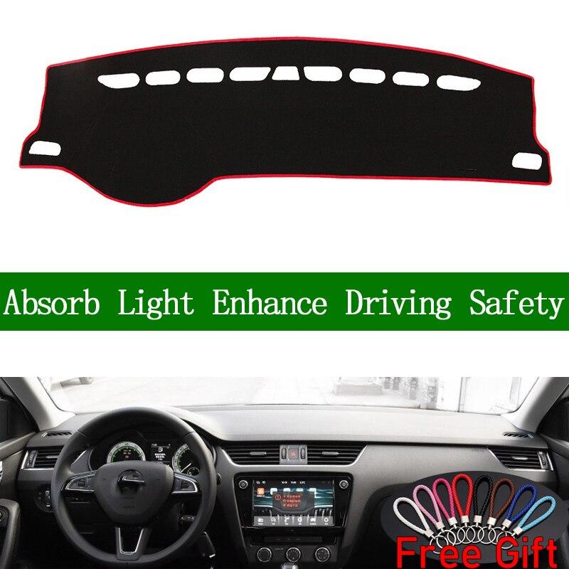 For SKODA Rapid Spaceback 2014-2019 Dashboard Cover Sun Shade Non-slip Dash Mat Pad Carpet Car Stickers Interior Accessories