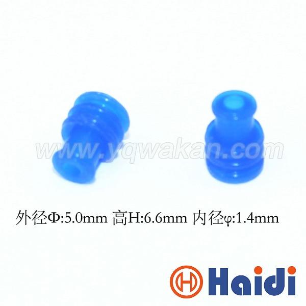 Бесплатная Доставка 100 шт. автомобильный разъем синий кабель резиновое уплотнение HDY1001 супер провода уплотнения для авто разъем