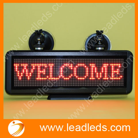 12V Car Programmable Led Moving Display Board Support Clock Function