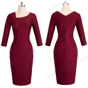 Elegant Bodycon Slim Lady Dress Women Casual Office Business Pencil Dress 1