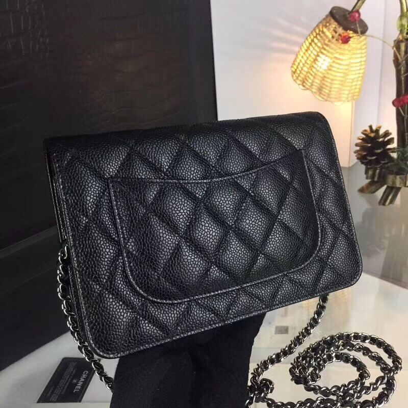 Top Quality Luxury Brand Design Double Flap Shoulder Bag Lamb Leather Bag Women Classic Woc Plain Cross Body Chain Bag